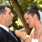 Beautiful bride and groom at Mystic, Ct wedding.