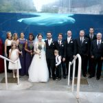 Wedding Bride and Groom in Mystic CT Aquarium