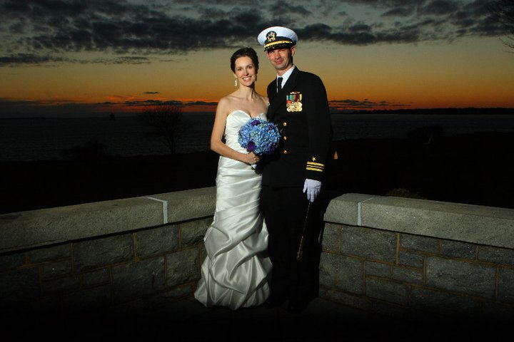 Groom and Bride in Groton Connecticut